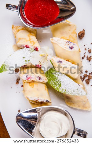 Rolled Crepes - stock photo
