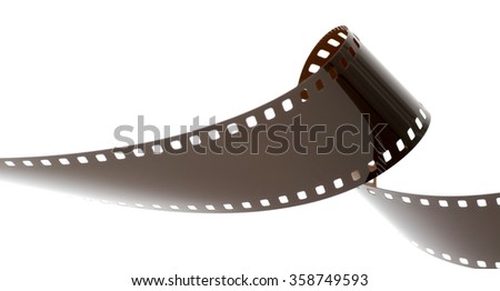 Rolled undeveloped film strip. - stock photo