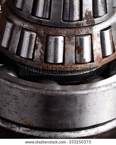 Roller bearing with rust - stock photo