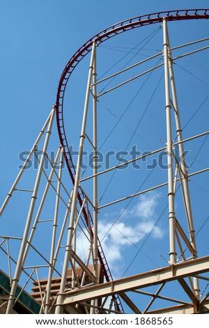 roller coaster curve structure, las vegas - stock photo