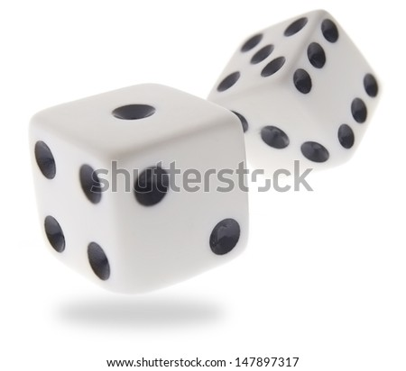 Rolling dice - stock photo
