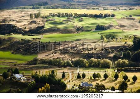 Rolling Hills - New Zealand - stock photo