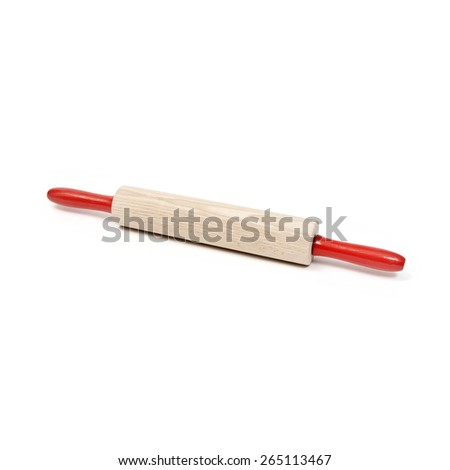 rolling pin - stock photo