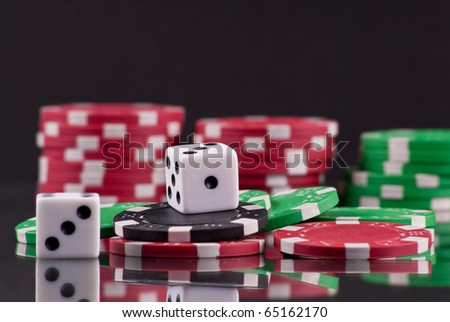Rolling The Dice of Luck - stock photo