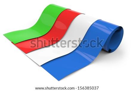 Rolls of plastic - stock photo
