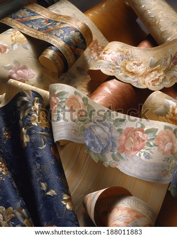 rolls of wallpaper - stock photo