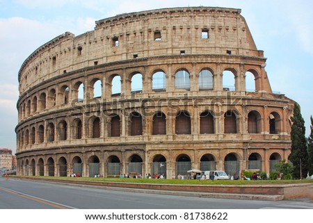 Roma coliseum - stock photo