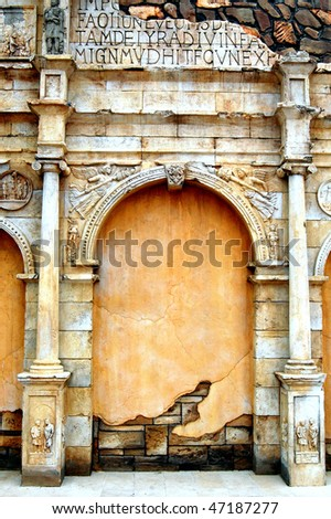 Roman Building Exterior - stock photo