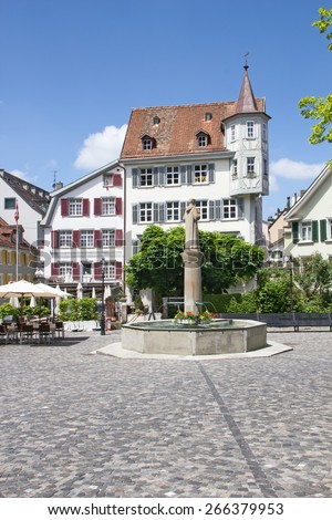 Roman Catholic Abbey in Sankt Gallen, Switzerland - stock photo