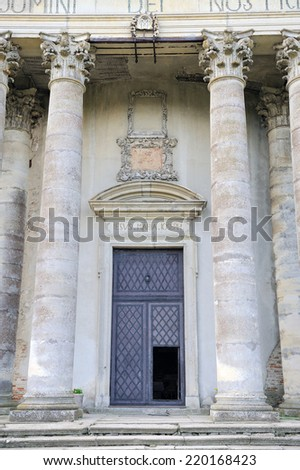 Roman Catholic church of the Exaltation of the Holy and St. Joseph.  near Lviv, Ukraine - stock photo