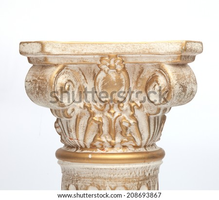 Roman Columns - Greek - stock photo