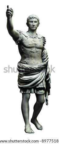 roman fighter person statue - stock photo