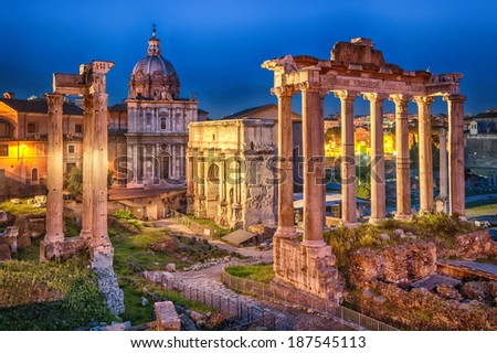 Roman Forum, Rome, Italy - stock photo
