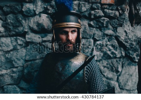 Roman legionary - stock photo