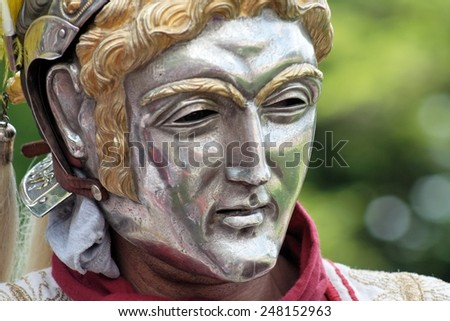 Roman parade mask - stock photo