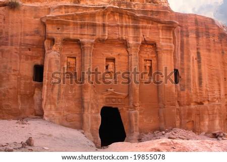 Roman soldier's tomb in Petra, Jordan - stock photo
