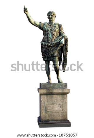 Roman statue of Caesar Augustus emperor - stock photo