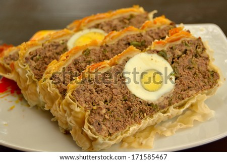 Romanian Easter Haggis from Lamb - stock photo