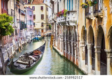 Romantic beautiful Venice  - stock photo