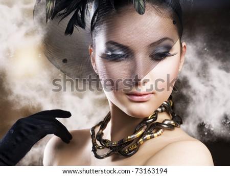 Romantic Beauty Portrait - stock photo