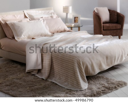 romantic bedroom - stock photo