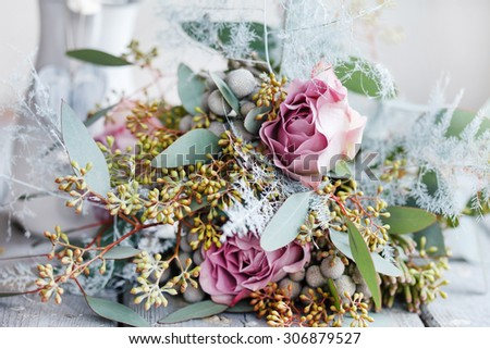 romantic bouquet - stock photo