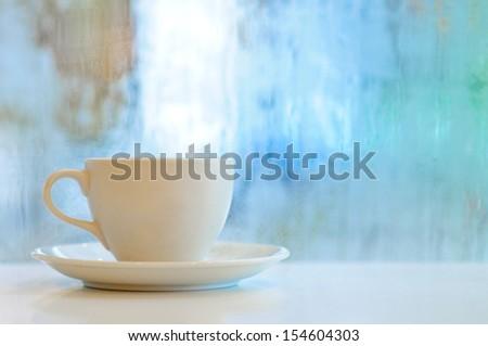 Romantic Coffee Cup - stock photo