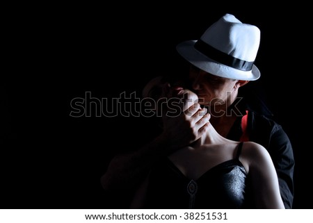 romantic couple are hugging - stock photo
