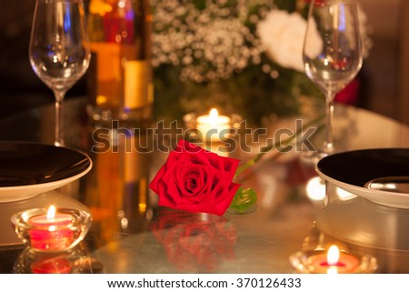Romantic date night.  - stock photo