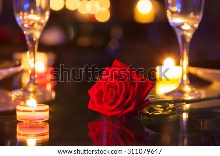 Romantic date setting. - stock photo