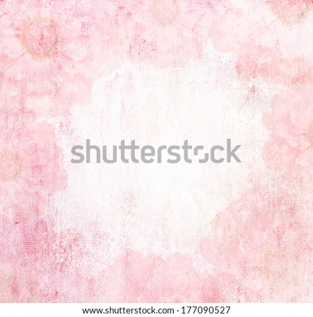 romantic flower Grunge pink background vintage abstract rusty colored background - stock photo