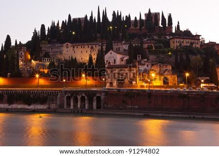 Romantic Morning in Verona - stock photo