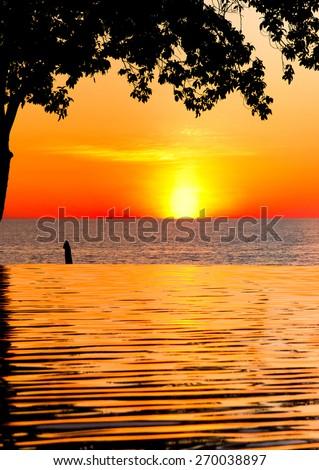 Romantic Villa Evening Relaxation  - stock photo