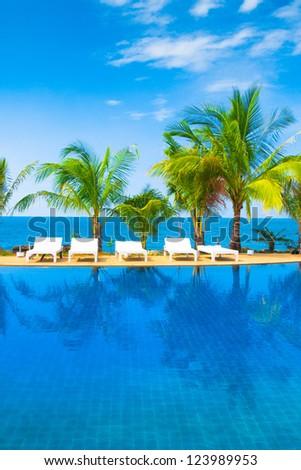 Romantic Villa Tourist Dream - stock photo