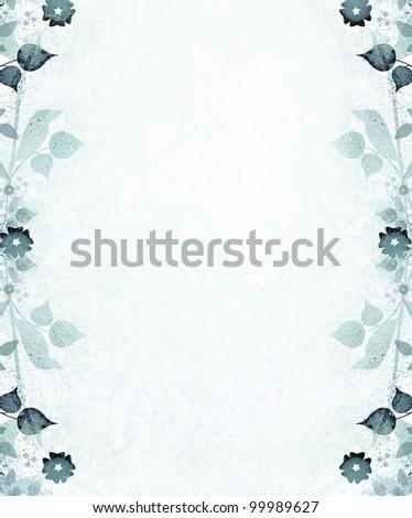 Romantic vintage flowers background - stock photo