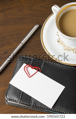 Romantic workplace relationship concept, romance at the office concept - stock photo
