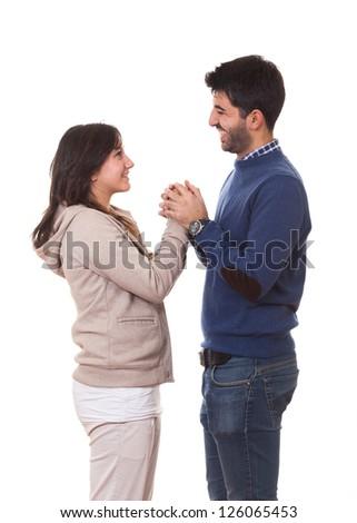Romantic Young Couple, Valentine's Day - stock photo