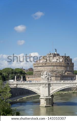 rome, Castel Sant'Angelo - stock photo