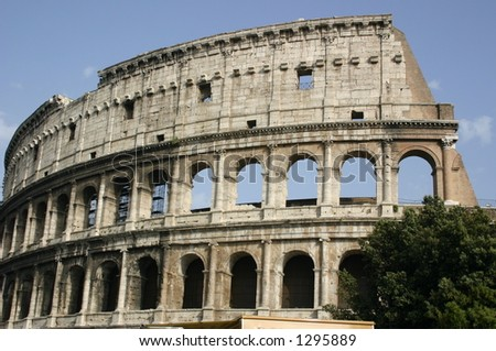 rome colosseum - stock photo