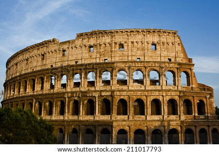 Rome Colosseum, Rome Italy - stock photo