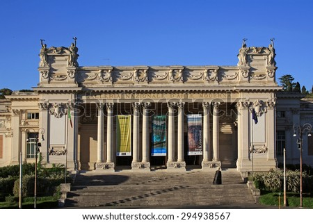 ROME, ITALY - APRIL 30, 2015: National Gallery of Modern Art on April 30, 2015 in Rome. It is the art gallery in Rome and dedicated to to modern and contemporary art. - stock photo