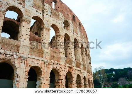 rome italy coliseum monument of architecture, spring photos - stock photo