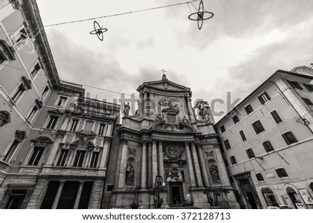 ROME - January 6: Beautiful streets of Rome 6, 2016 in Rome, Italy. - stock photo