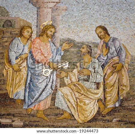 Rome - mosaic from st. Peters basilica - stock photo