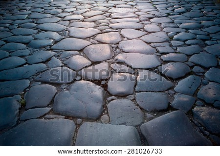 Rome pavement - stock photo