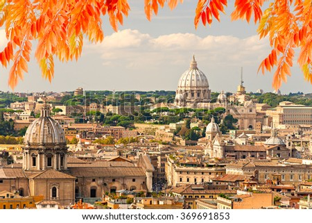Rome, St. Peter and skyline view.Italy. - stock photo