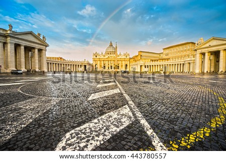 Rome, St. Peter and Vatican.Italy. - stock photo