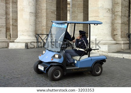 Rome, St.Peter square, Police - stock photo