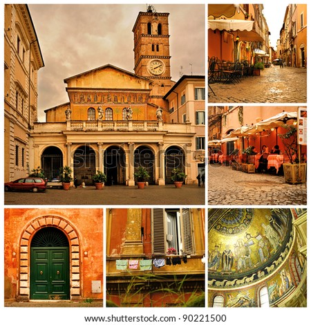 Rome. Trastevere - stock photo