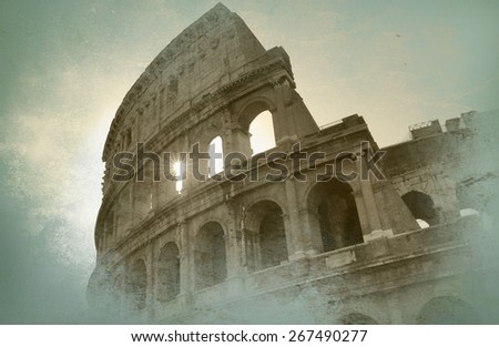 Rome view - stock photo